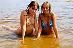 Two wet girls